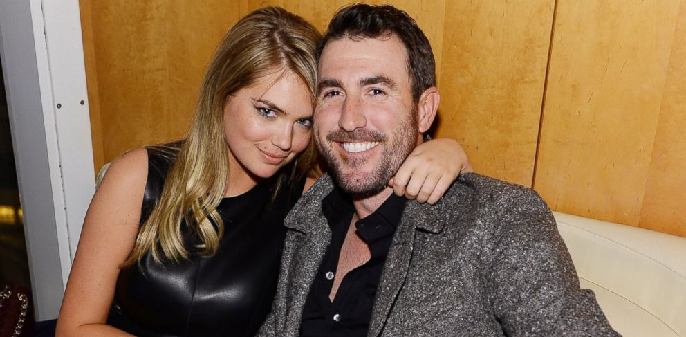PHOTO: Model Kate Upton and professional baseball player Justin Verlander attend the GQ Super Bowl Party 2014 sponsored by Patron Tequila, Van Heusen, and Miller Fortune, Jan. 31, 2014 in New York.