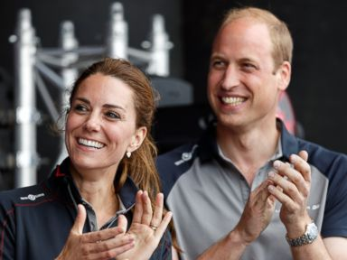 PHOTO: Catherine, Duchess of Cambridge and Prince William, Duke of Cambridge attend the prize giving presentation at the Americas Cup World Series, July 24, 2016, in Portsmouth, England.