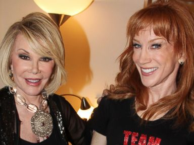 PHOTO: Joan Rivers and Kathy Griffin pose backstage at Kathy Griffin Wants A TONY! on Broadway
