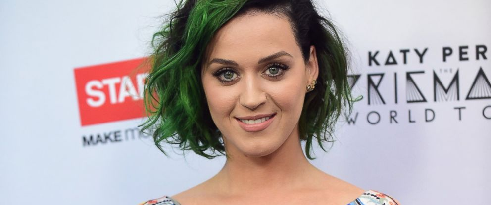 "PHOTO: Pop star Katy Perry poses on June 12, 2014 in Los Angeles, Calif., following an announcement where she is teaming up Staples to ""Make Roar Happen"", celebrating and supporting teachers for a philanthropic effort during the back-to-school season."