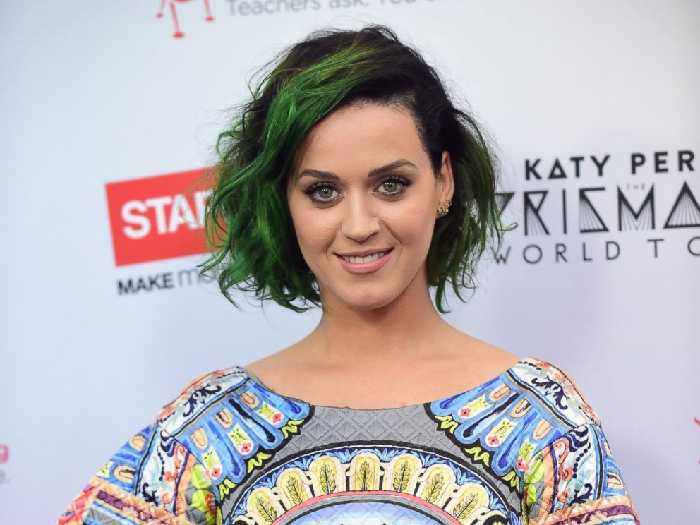 PHOTO: Pop star Katy Perry poses on June 12, 2014 in Los Angeles, Calif., following an announcement where she is teaming up Staples to Make Roar Happen, celebrating and supporting teachers for a philanthropic effort during the back-to-school season.