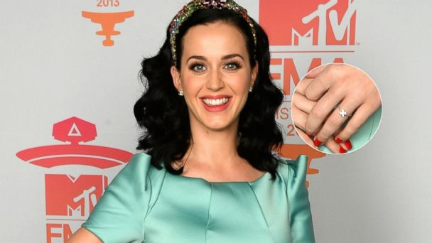 GTY katy perry ring lpl 131111 16x9 608 Katy Perry Wears Diamond Ring on Her Left Hand