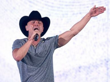 PHOTO: Kenny Chesney performs onstage during the 51st Academy of Country Music Awards at MGM Grand Garden Arena, April 3, 2016 in Las Vegas.