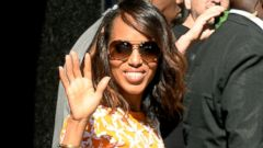 Kerry Washington Makes a Bright Appearance in NYC