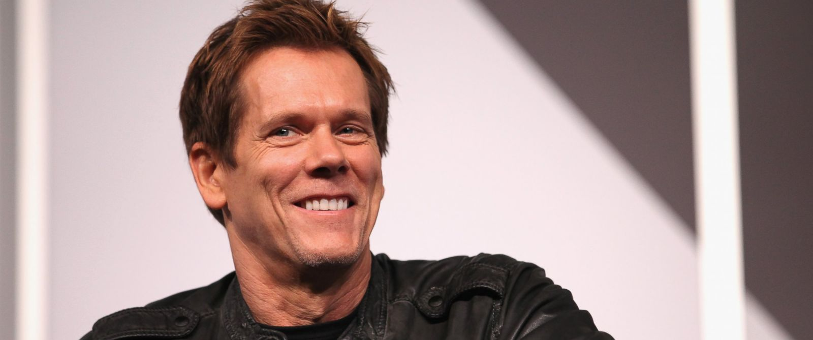 "PHOTO: Actor Kevin Bacon speaks onstage at ""6 Degrees of Kevin Bacon: A Social Phenomenon Turns 20"" during the 2014 SXSW Music, Film + Interactive Festival at Austin Convention Center on March 8, 2014."