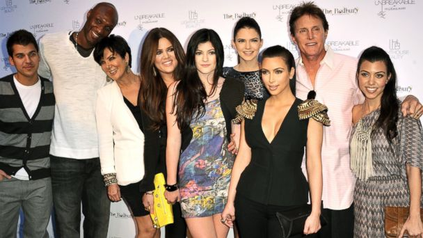 PHOTO: Rob Kardashian, Lamar Odom, Kris Jenner, Khloe Kardashian, Kylie Jenner, Kendall Jenner, Kim Kardashian, Bruce Jenner and Kourtney Kardashian attend the launch for \