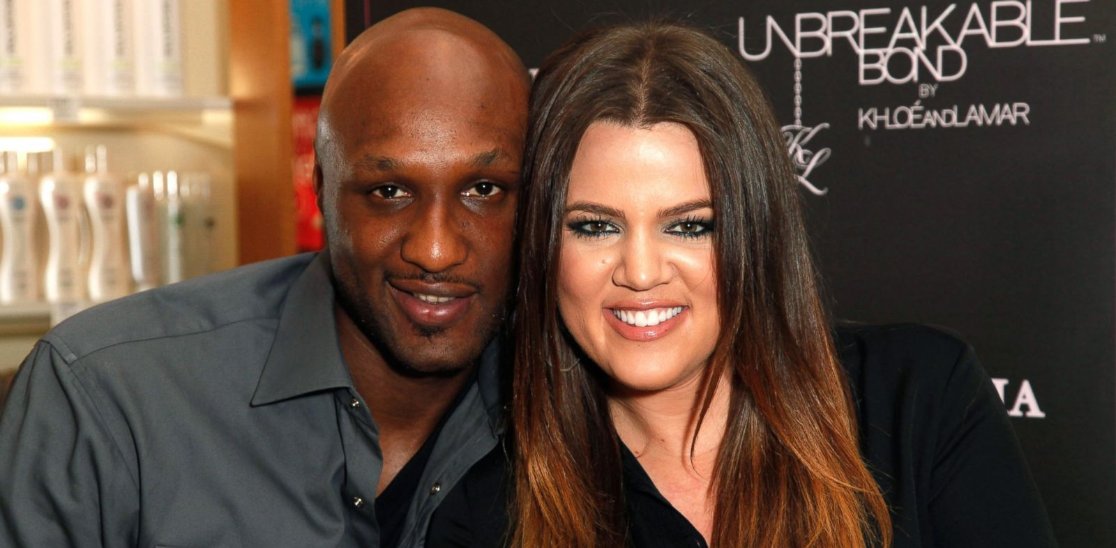 PHOTO: In this file photo, Lamar Odom and Khloe Kardashian make an appearance to promote their fragrance, Unbreakable Bond, at Perfumania in Orange, Calif., June 7, 2012.