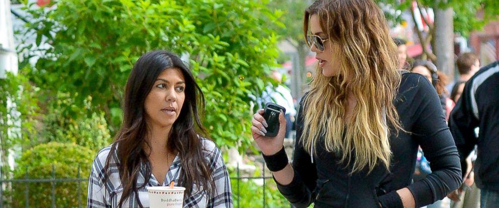PHOTO: Kourtney Kardashian and Khloe Kardashian are seen in Sag Harbor, June 12, 2014, in New York City.