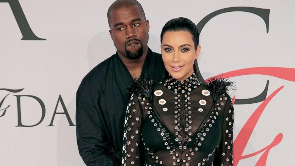 Kim Kardashian an Kanye West