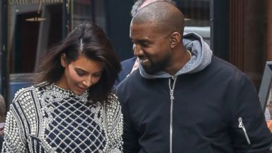 Kim Kardashian and Kanye West Take In Paris