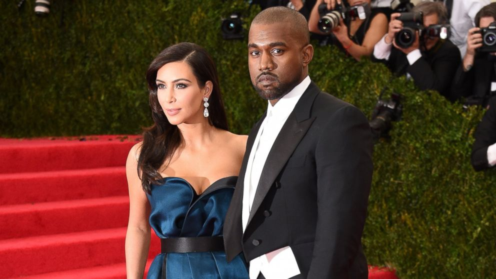 PHOTO: Kayne West, right, and Kim Kardashian, left, are pictured on May 5, 2014 in New York City.