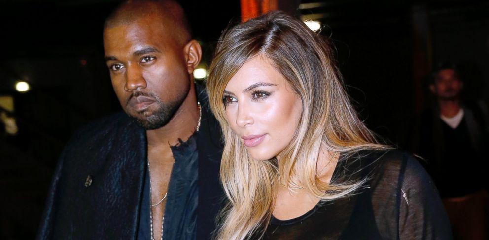 PHOTO: Kim Kardashian and Kanye West during Paris Fashion Week, Sept. 29, 2013, in Paris.