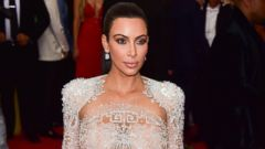 Kim Kardashian Goes Sheer for a Night Out