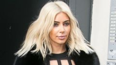 Kim Kardashian Ditches Her Platinum Blonde Hair