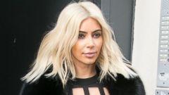 Kim Kardashian Ditches Her Platinum Blonde Hair
