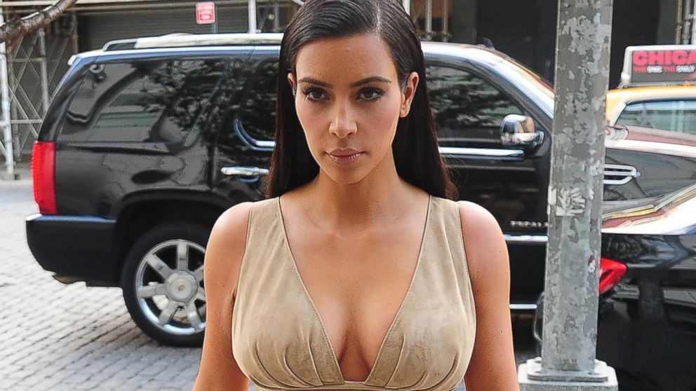 PHOTO: Kim Kardashian walks outside in the Meatpacking District, June 26, 2014, in New York.