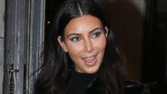 Kim Kardashian Rocks Another Black Ensemble in Paris