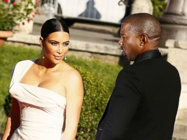 Photos:  Kim Kardashian and Kanye West Look Fierce in Rome