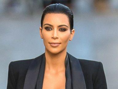 Kim Kardashian Wears a Very Sheer Skirt in Hollywood