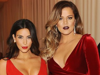 PHOTO: Kim Kardashian and Khloe Kardashian attend the 22nd Annual Elton John AIDS Foundation Academy Awards viewing party with Chopard at the City of West Hollywood Park, March 2, 2014 in West Hollywood, Calif.