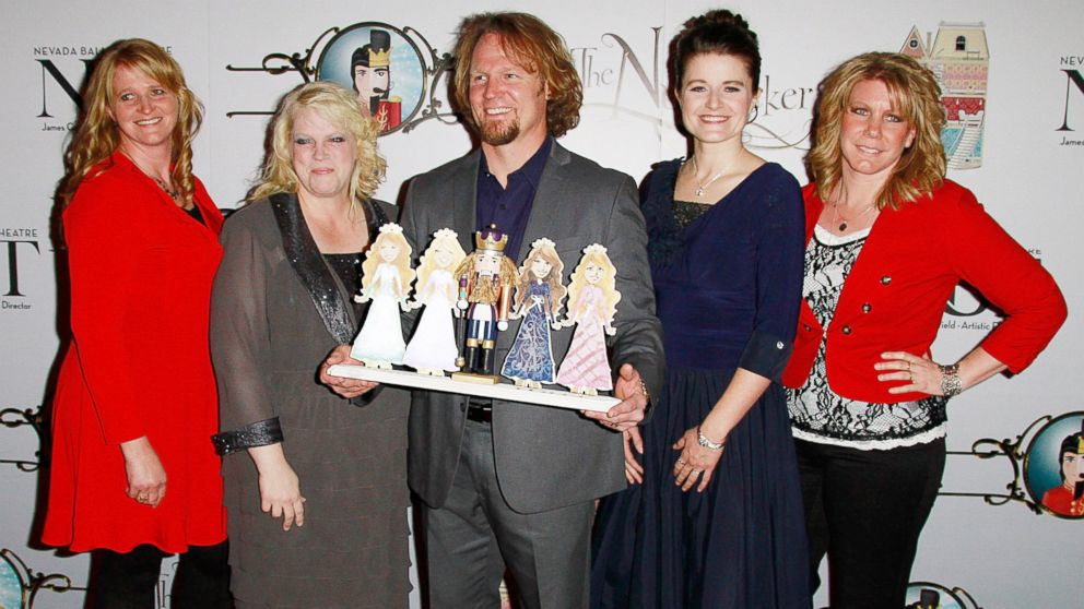 "PHOTO: Cast of TLCs ""Sister Wives"" Christine Brown, Janelle Brown, Kody Brown, Robyn Brown and Meri Brown attend the Nevada Ballet Theatres Production of ""The Nutcracker"" at the Smith Center, Dec. 15, 2012, in Las Vegas."