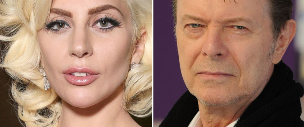 PHOTO:Lady Gaga attends a Golden Globe Awards Party, Jan. 10, 2016, in Beverly Hills, Calif. David Bowie attends the CFDA Fashion Awards, June 7, 2010, in New York.