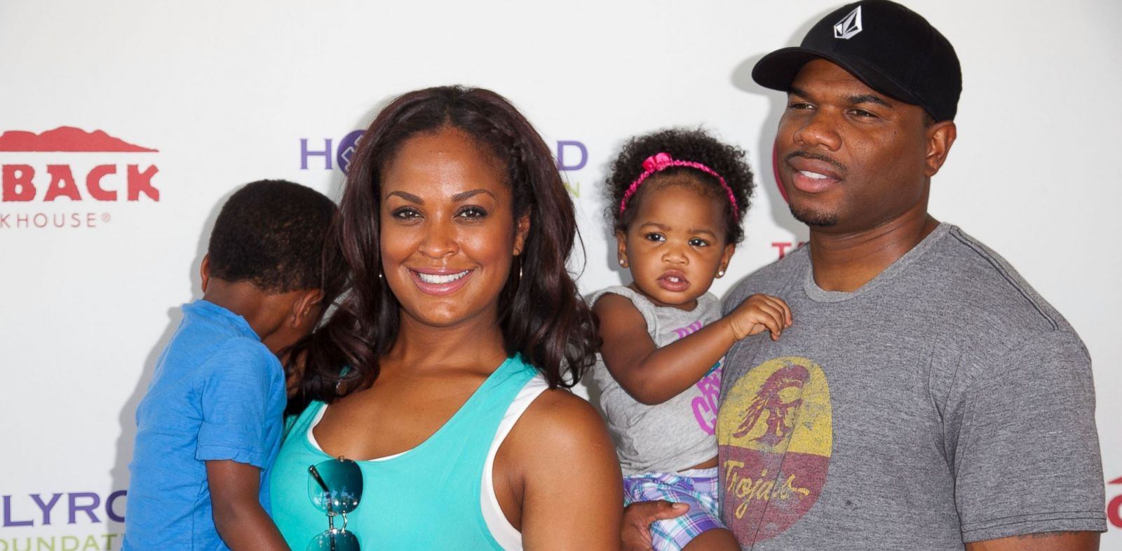 PHOTO: In this file photo, Curtis Conway Jr., Laila Ali, Sydney Conway, and Curtis Conway, left to right, are pictured on Aug. 12, 2012 in Culver City, Calif.