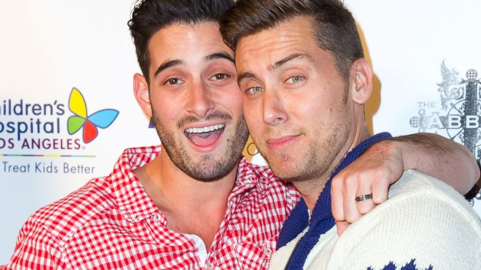 PHOTO: Actor Michael Turchin, left, and singer Lance Bass attend The