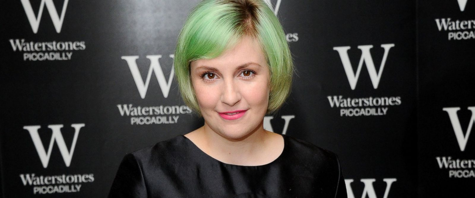 "PHOTO: Lena Dunham meets fans and signs copies of her book, ""Not That Kind of Girl,"" at Waterstones, Piccadilly, Oct. 29, 2014, in London."