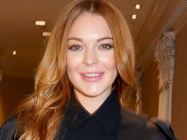 Lindsay Lohan Rocks a Little Black Dress