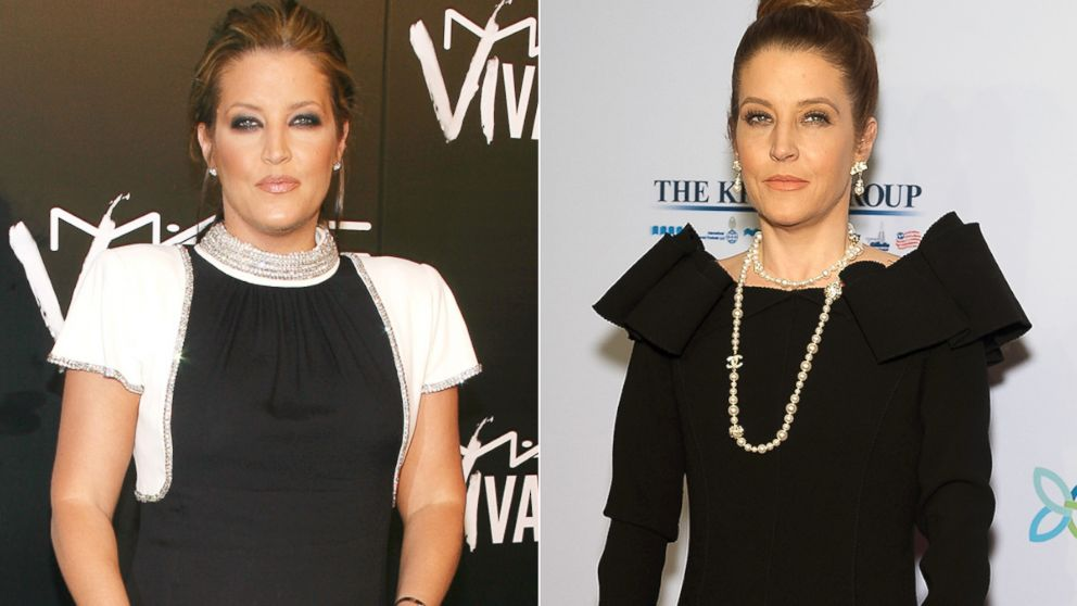 PHOTO: Lisa Marie Presley, left, is pictured on Sept. 6, 2006 in New York City. Lisa Marie Presley, right, is pictured on Oct. 15, 2013 in New York City.