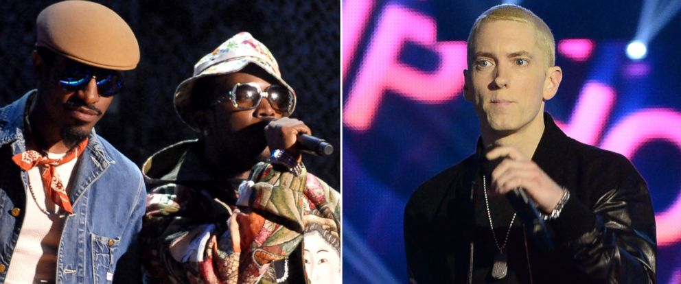 PHOTO: From left, Outkast and Eminem