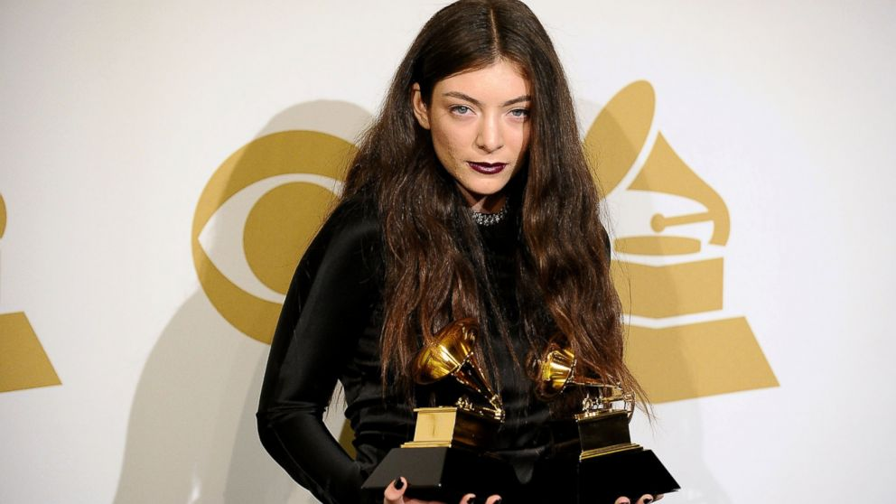 PHOTO: Lorde poses in the press room at the 56th GRAMMY Awards at Staples Center, Jan. 26, 2014, in Los Angeles.