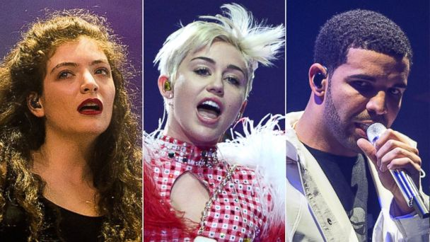 GTY lorde miley drake tk 140409 16x9 608 Miley Cyrus, Lorde, Drake Among Finalists for 2014 Billboard Music Awards