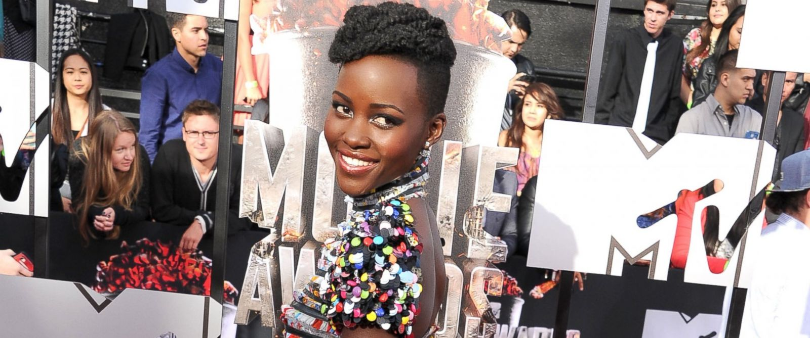 PHOTO: Lupita Nyongo arrives at the 2014 MTV Movie Awards