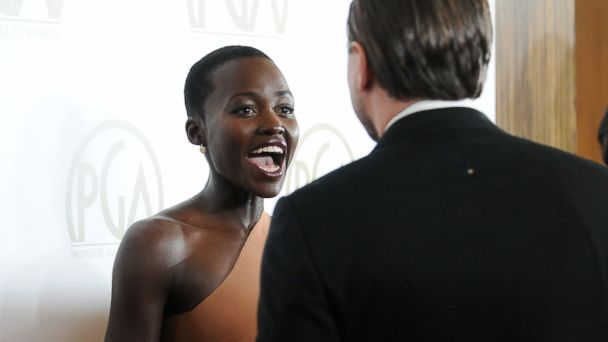 PHOTO: Lupita Nyongo and Leonardo DiCaprio attend the 25th annual Producers Guild Awards at The Beverly Hilton Hotel, Jan. 19, 2014, in Beverly Hills, Calif.