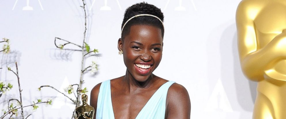 PHOTO: Lupita Nyongo poses at the 86th Annual Academy Awards at Loews Hollywood Hotel, March 2, 2014 in Hollywood, Calif.