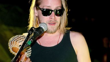 PHOTO: Macaulay Culkin performs with Pizza Underground at Unconventional Oven, Jan. 31, 2014 in Austin, Texas.