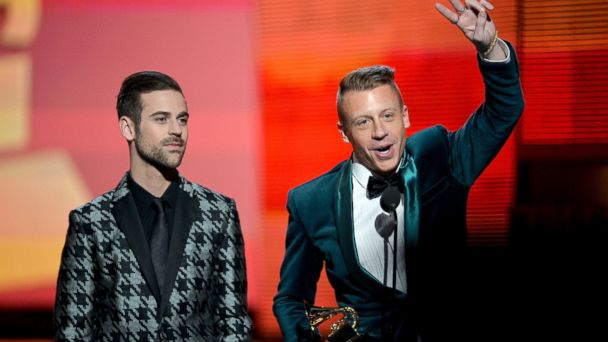 GTY mackelmore ryan lewis jef 140126 16x9 608 Gay and Straight Couples Married Live During 2014 Grammy Awards