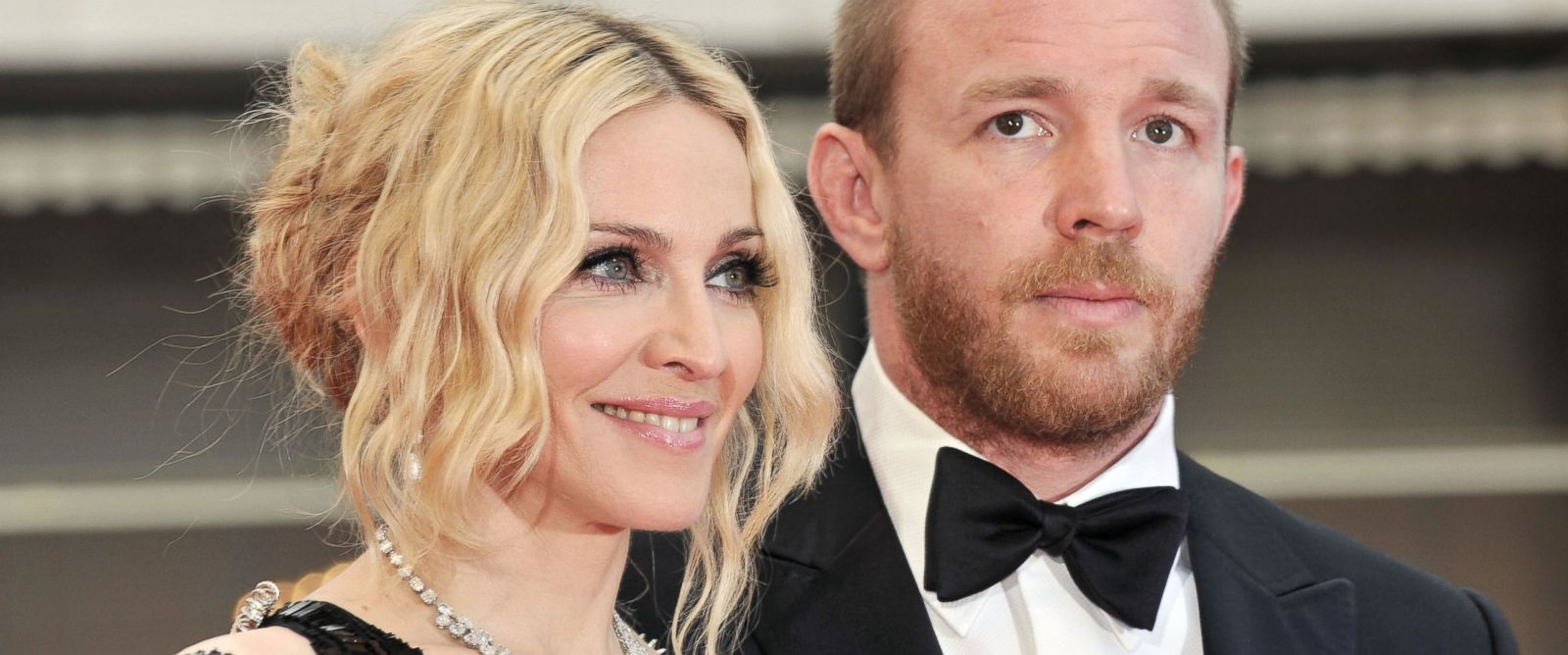 "PHOTO: Madonna and Guy Ritchie arrive at the screening of Nathan Rissmans film ""I Am Beacuse We Are"" at the 61st Cannes International Film Festival, May 21, 2008, in Cannes, France."