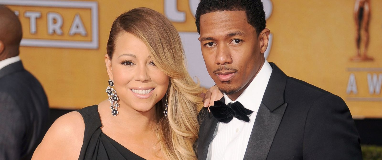PHOTO: Singer Mariah Carey and actor/TV personality Nick Cannon arrive at the 20th Annual Screen Actors Guild Awards at The Shrine Auditorium, Jan. 18, 2014 in Los Angeles, Calif.