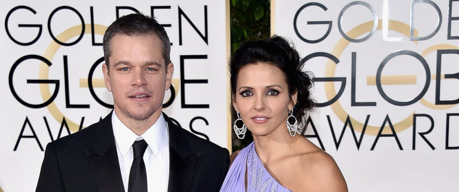 PHOTO: Matt Damon and Luciana Damon attend the 73rd Annual Golden Globe Awards held at the Beverly Hilton Hotel, Jan. 10, 2016, in Beverly Hills, Calif.
