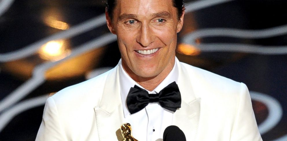 PHOTO: Matthew McConaughey accepts the Best Performance by an Actor in a Leading Role award for Dallas Buyers Club onstage during the Oscars at the Dolby Theatre, March 2, 2014 in Hollywood, Calif.