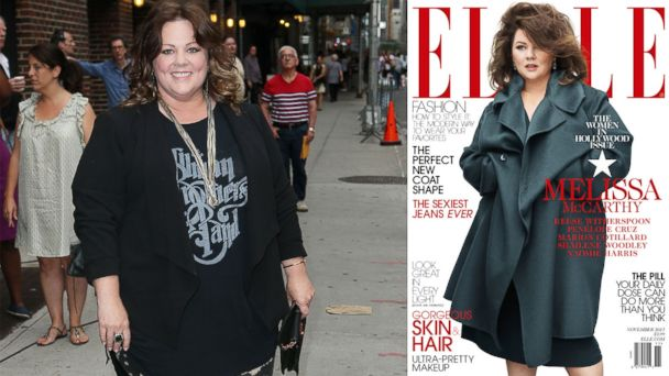 GTY mccarthy cover jtm 131017 16x9 608 Melissa McCarthy Calls Controversial Elle Cover Kind of Amazing