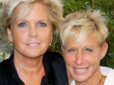 PHOTO: Actress Meredith Baxter and her partner actress Nancy Locke attend Outfest VIP Womens Soiree at Gallery Lofts in Los Angeles, June 24, 2012.