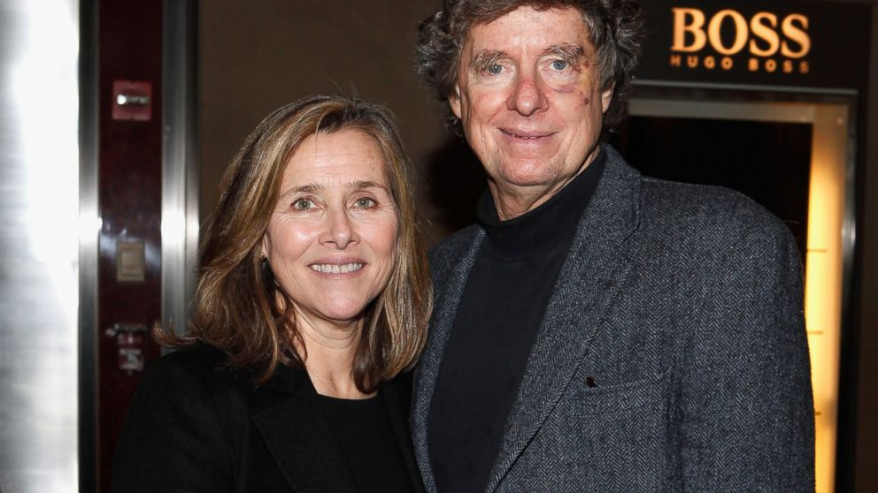 PHOTO: Meredith Vieira and her husband Richard Cohen attend the Andy Rooney Memorial in New York