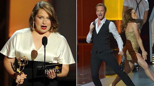 GTY merritt wever neil harris emmys lpl 130922 16x9 608 Top 5 Emmy Moments: From Merritt Wever to Bob Newhart, Which Was Your Favorite?