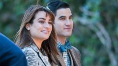 Lea Michele Shoots Glee with Darren Criss