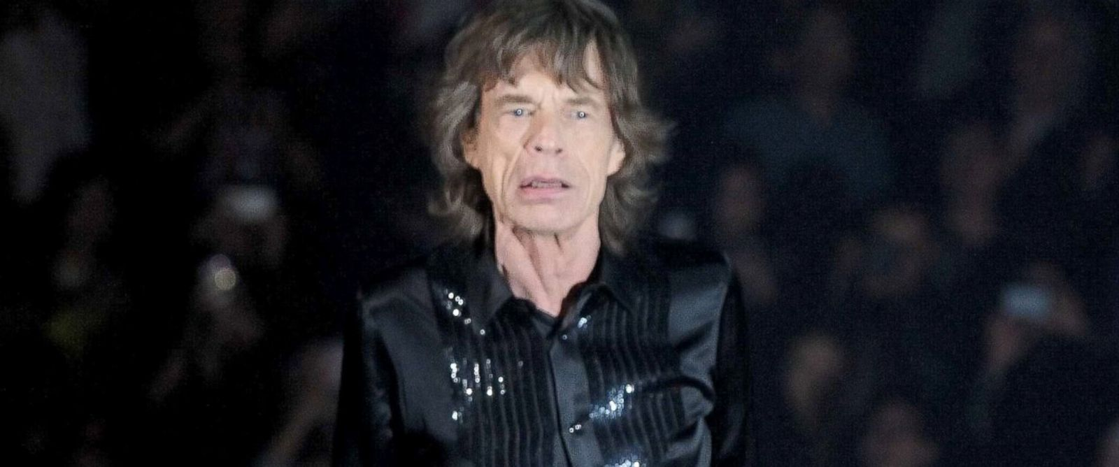 PHOTO: Mick Jagger performs on the stage in concert at the Mercedes-Benz Arena, March 12, 2014, in Shanghai.