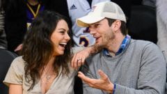 Ashton Kutcher and Mila Kunis Have a Courtside Date Night